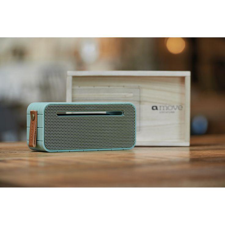 aMOVE högtalare, grön/guld i gruppen Inredningsdetaljer / Hemmets bra att ha / Radioapparater hos RUM21.se (129976)