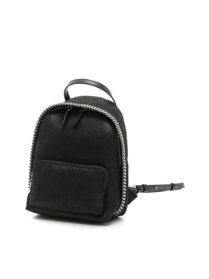 STELLA MCCARTNEY Shaggy Deer Mini Falabella Backpack. #stellamccartney #bags #lining #backpacks #
