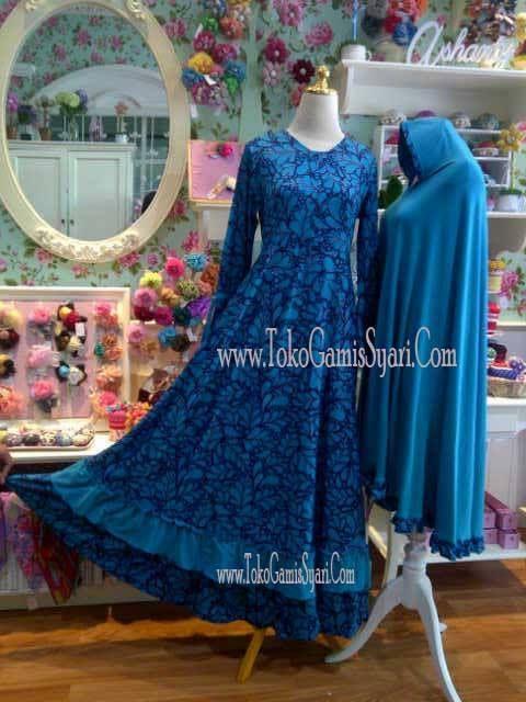 Gamis Syahlaa Adwa Warna Biru