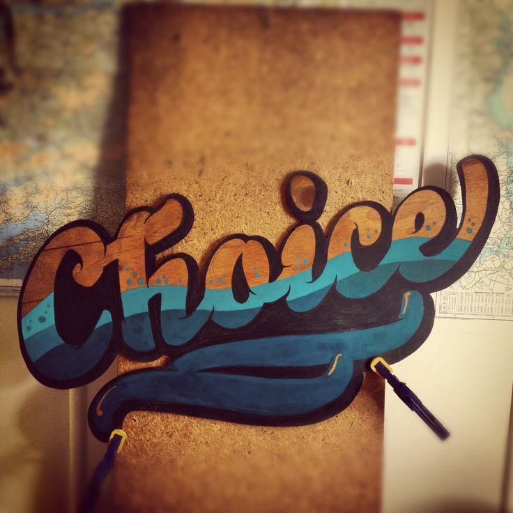 Work in progress. Acrylic on plywood. Choice!