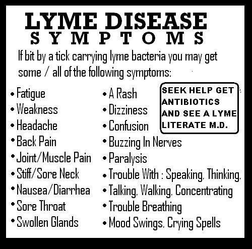 Never bothered to really educate myself on Lyme disease until I was diagnosed w it after becoming very ill summer of 2009, with many of the same symptoms & swollen glands so bad they literally bulged out of my neck! The Lyme was in the late stages by the time we caught it and I still suffer from some of the effects, such as painful joints, stiffness, Lyme arthritis and other symptoms. However, Lyme is now being linked to fibromyalgia & chronic fatigue & both cause similar symptoms as Lyme.