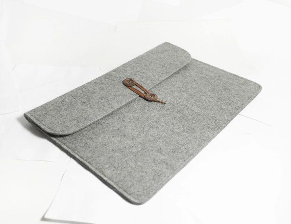 Macbook pro 15 Retina Macbook Sleeve Wool Felt Custom by TopHome, $34.00