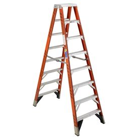 Werner 10-Ft Fiberglass 375-Lb Type Iaa Twin-Step Ladder T7410