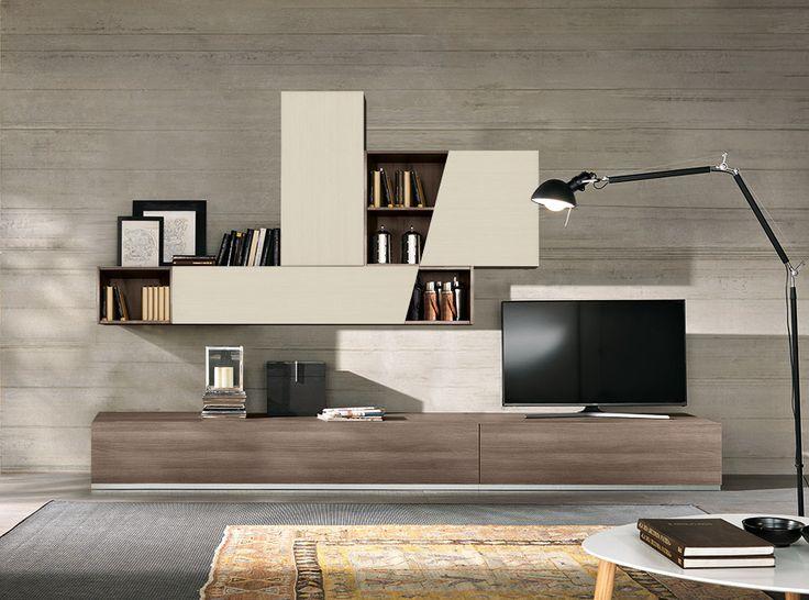 Modern Wall Unit Zen by SPAR, Italy - $2,065.00