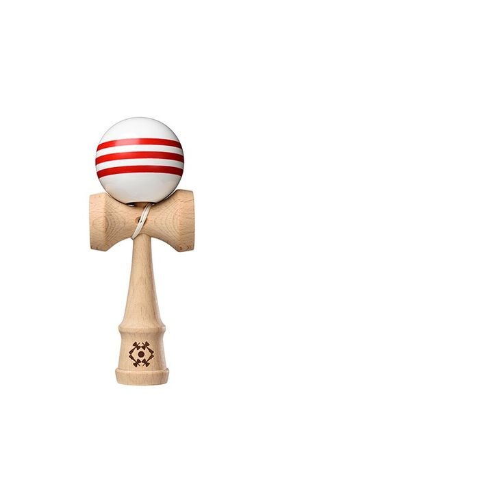 Kendama Tribute - White with Red Stripes | Marbles: the Brain Store; something to do inside without hopefully hitting or breaking stuff :o)