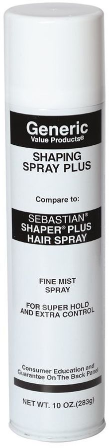 Generic Value Products Shaping Spray Plus Compare to Sebastian Shaper Plus Hair Spray