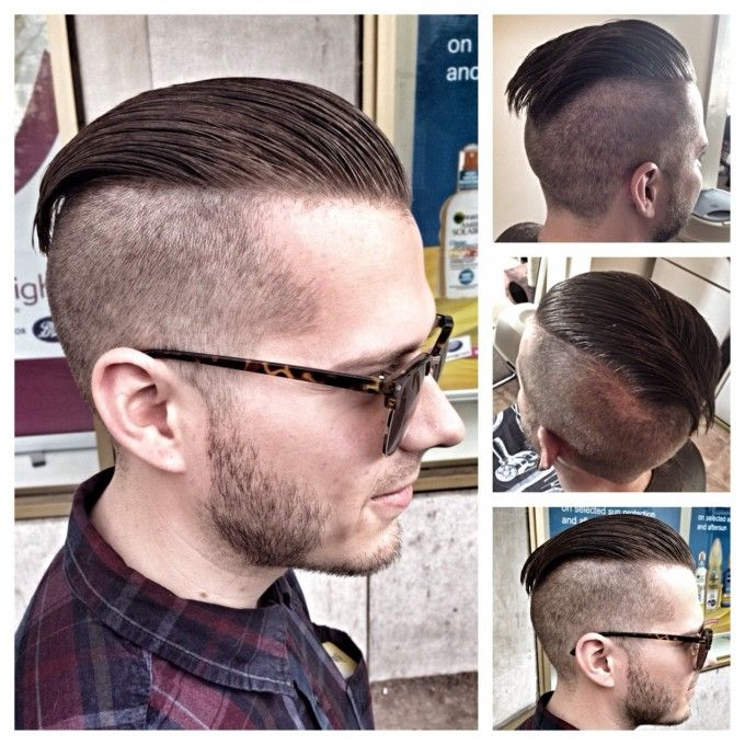 Undercut Hairstyle Clean Shaven