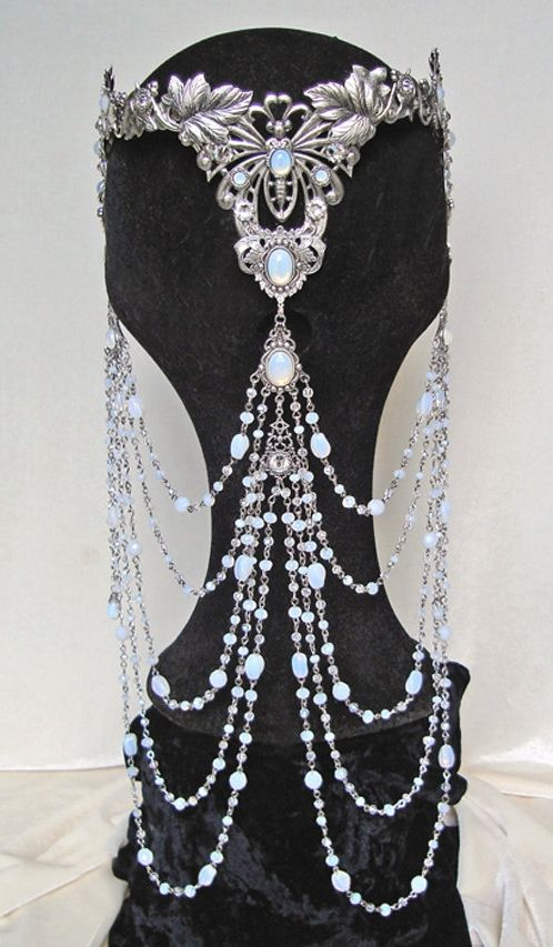 ~ White Opal Elven Crown ~