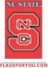 "North Carolina State Wolfpack Applique Banner Flag 44"" x 28"""