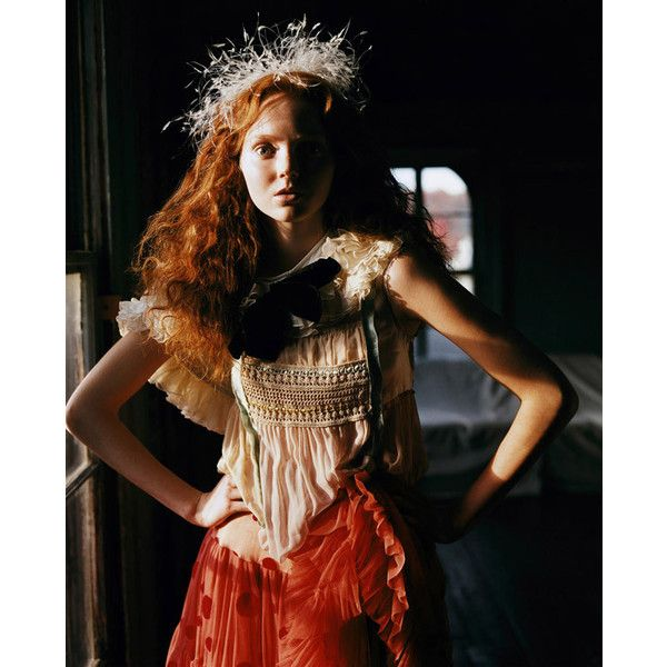 Lily Cole by Carter Smith ❤ liked on Polyvore featuring lily cole