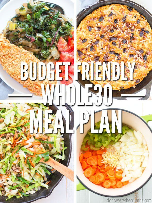 Entire30 Meal Plan (budget-friendly
