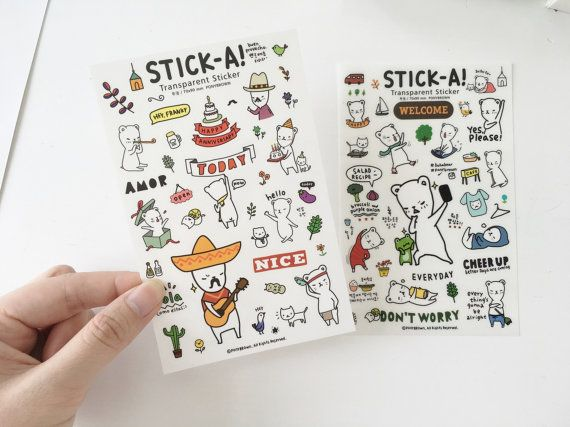transparent stickers