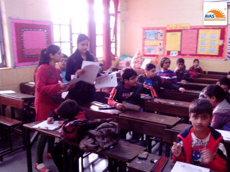 NLC Exam Room Vedic Math, teachers giving papers