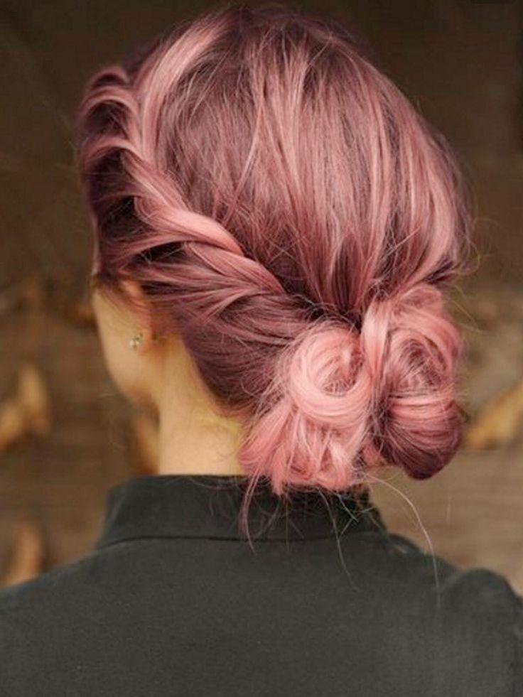 Rose quartz pastel pink hair 2015 hair idea
