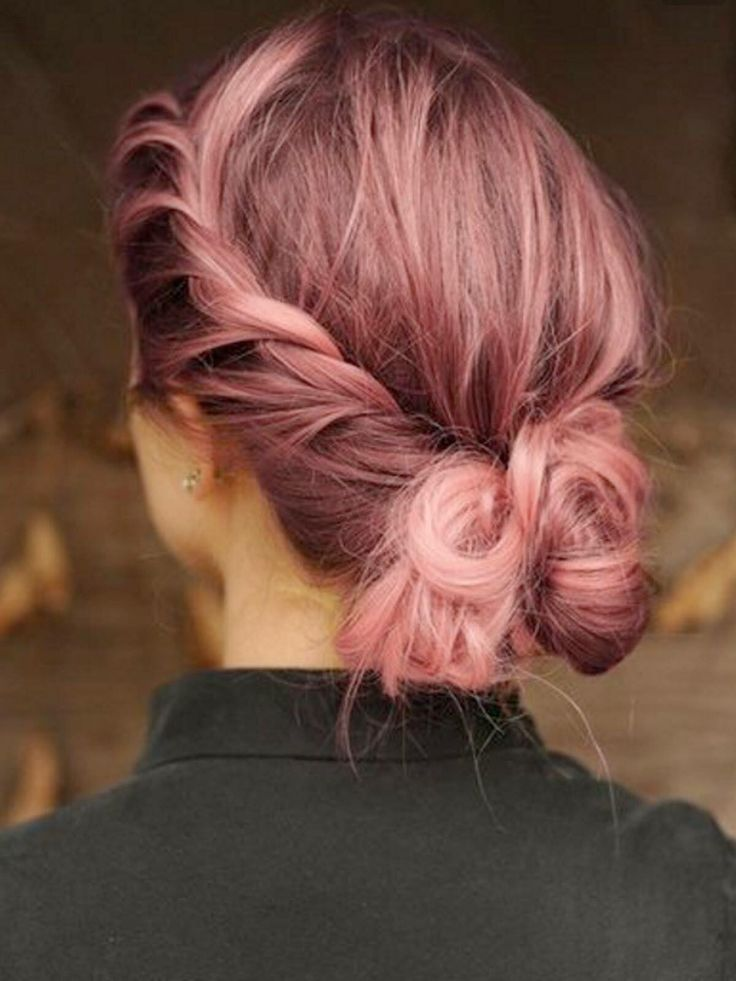 Rose quartz pastel pink hair 2015 hair idea