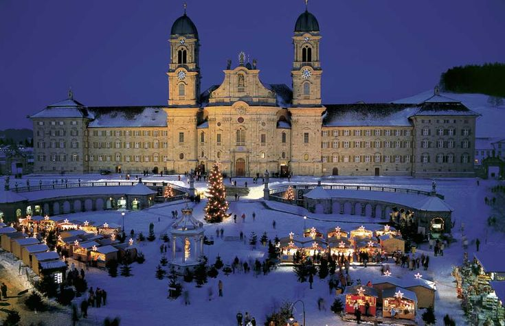 Benedictine Einsiedeln  Abbey, Switzerland Places to Visit For Christmas Holiday