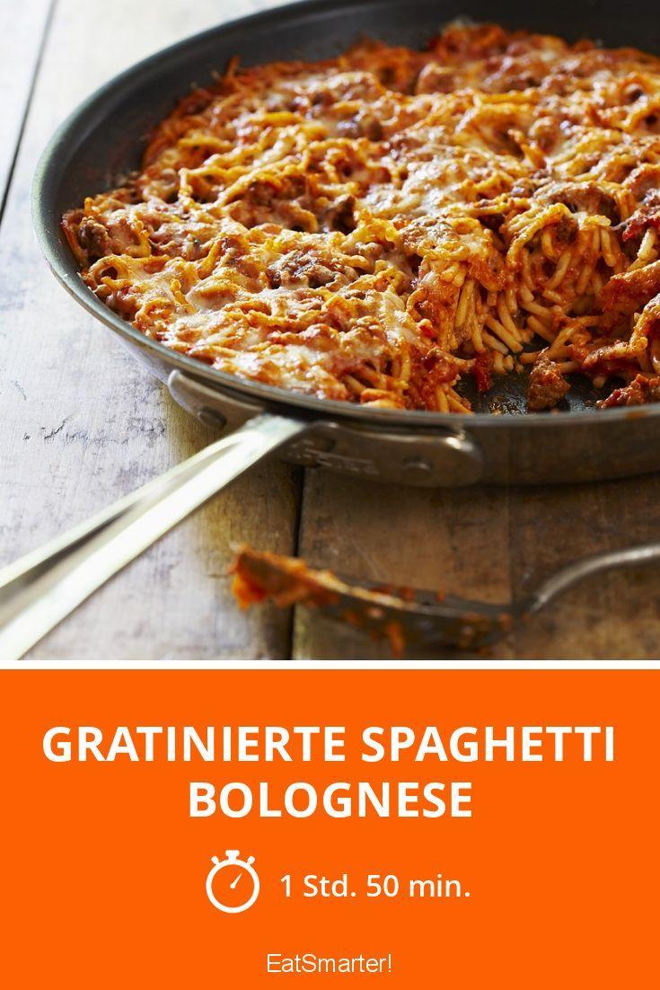 Gratinierte Spaghetti Bolognese - smarter - Zeit: 1 Std. 50 Min. | eatsmarter.de