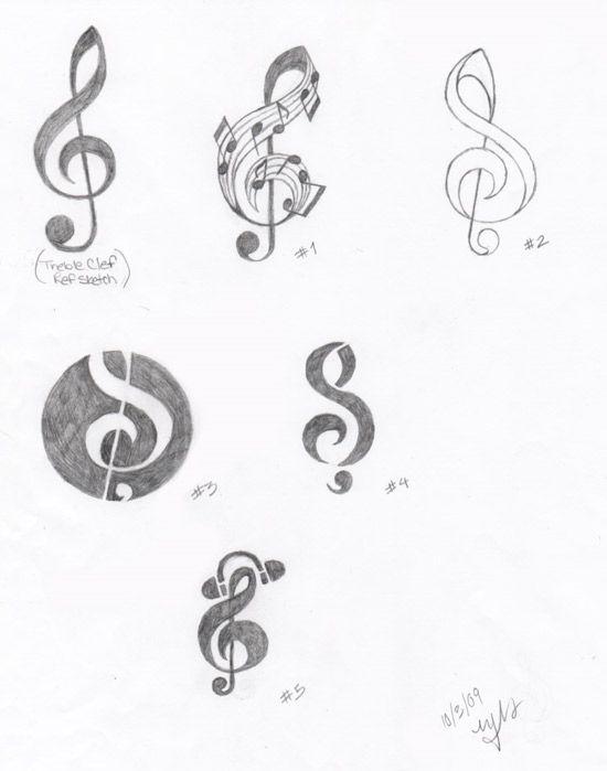 Treble Clef Logo Sketches By Melodynieves On Deviantart
