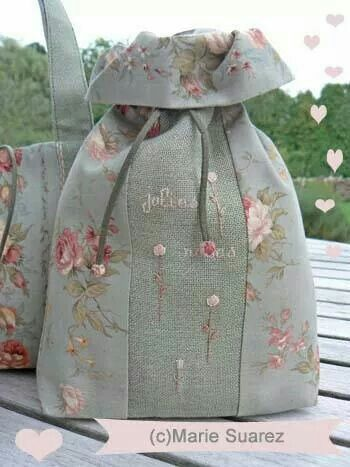 Marie Suarez -really pretty fabric with just a touch of embroidery.