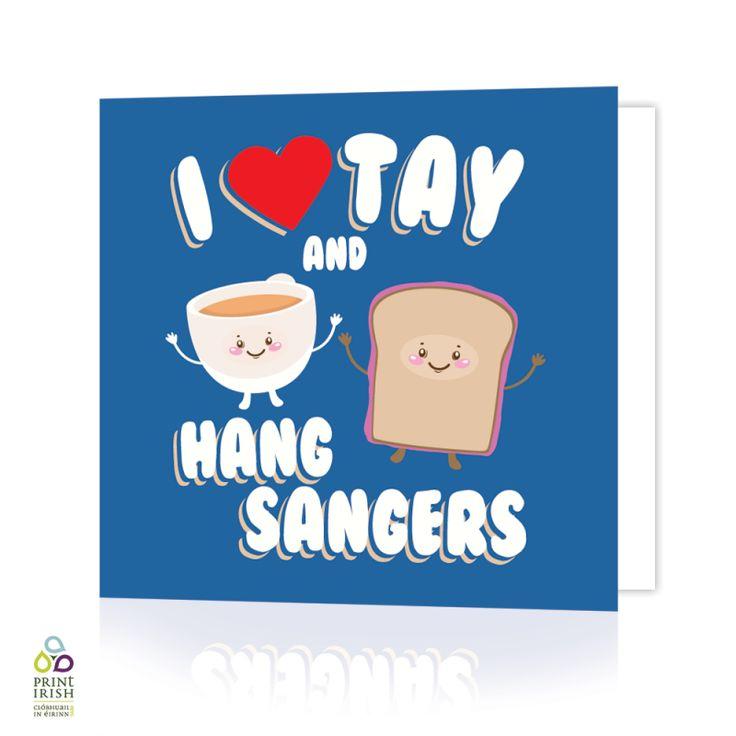 I Love Tay Greeting Card by HairyBaby.com