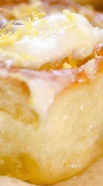 sticky lemon rolls with lemon cream cheese glaze lemon desserts lemon ...