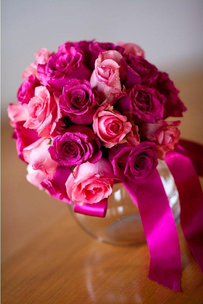 Hot pink Rose by Tirtha Bridal Uluwatu Bali #wedding #bouquet