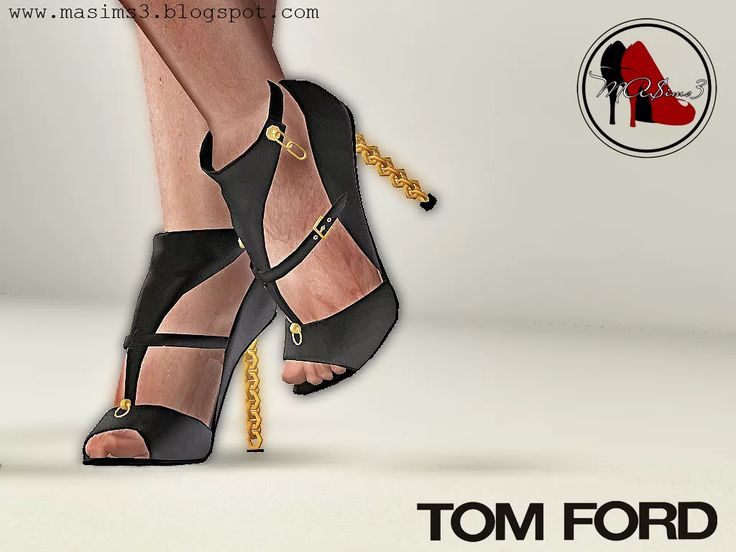 Sims 3 Female Clothes: Tom Ford Chain Shoes Custom Content Download