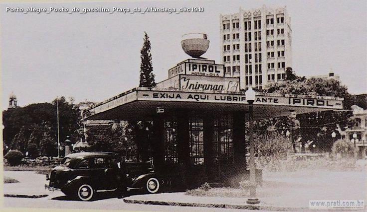 Porto Alegre Posto de gasolina Praça da Alfândega déc1940 | por Fotos Antigas RS