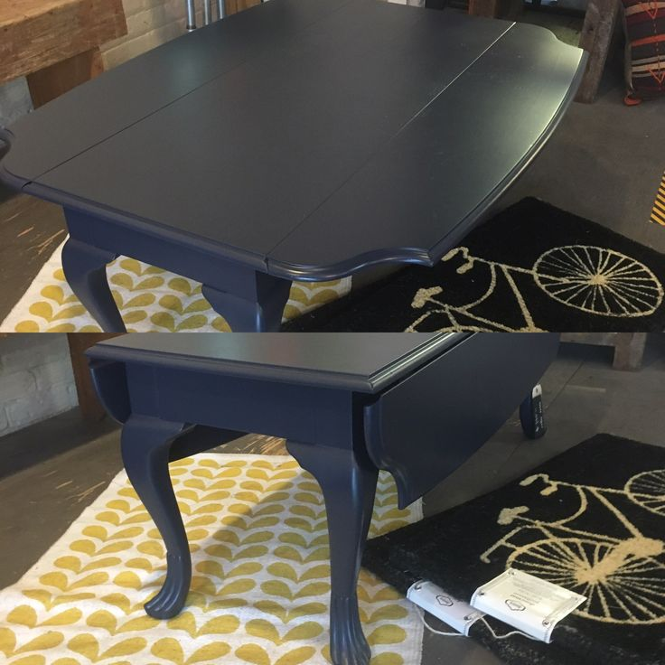 Attractive Drop Leaf Coffee Table Painted In Sherwin Williams, Naval.