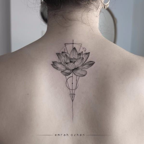 geometric flower tattoo color - photo #11
