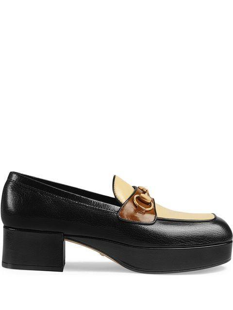 af862dc93776 Gucci Leather Platform Loafer With Horsebit in 2019