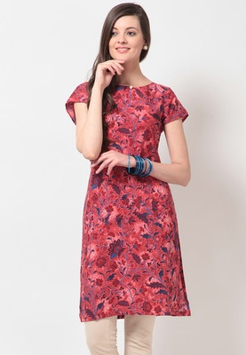 Printed Polyester Pink Kurta #MyYDHDLook