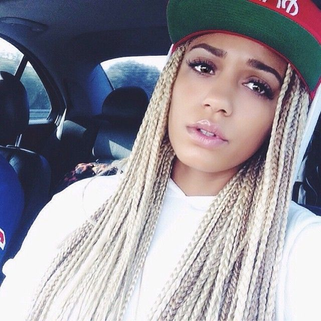 Blonde Box Braids Extension Hairstyles And Celebrities