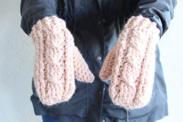Crochet Cable Twist Mittens Daisy Farm Crafts Crochet Cable Crochet Mittens Crochet