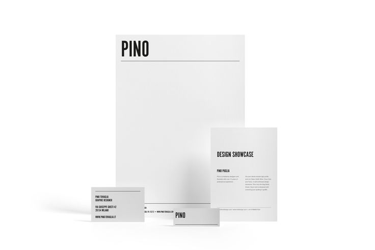 Design: Pino Tavaglia Designer: Jonathan Howells Products: Letterheads, Notecards, MiniCards Business Cards
