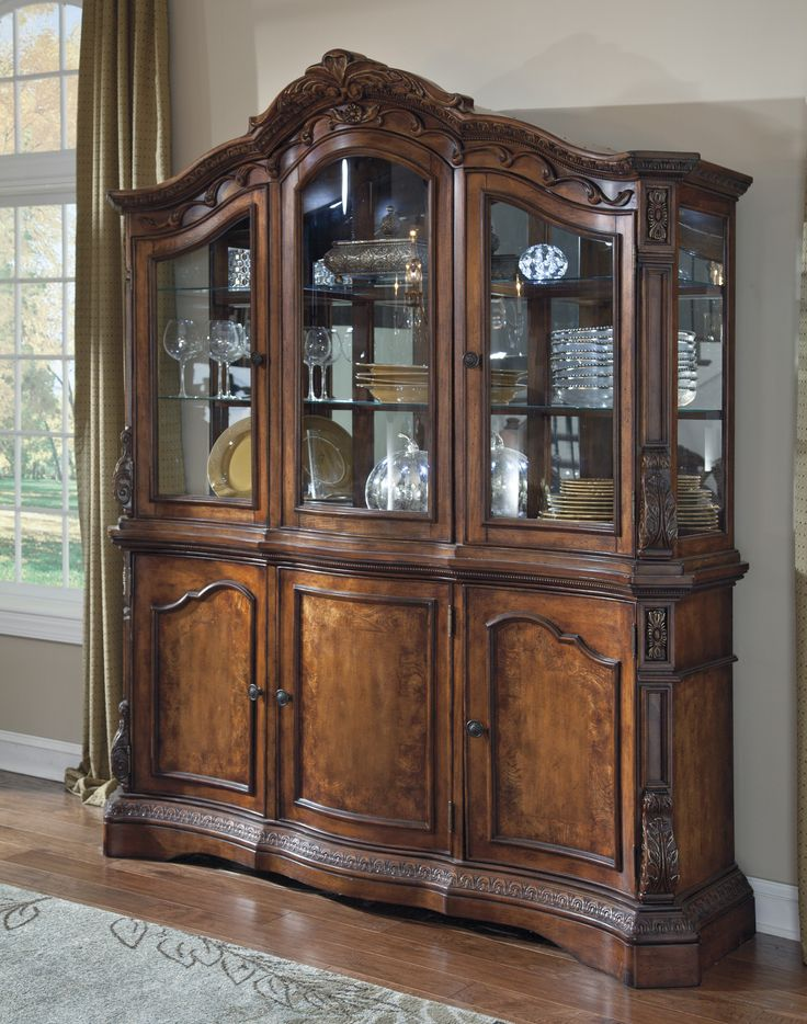 Signature Design By Ashley Ledelle Dining Room China Cabinet Cheap