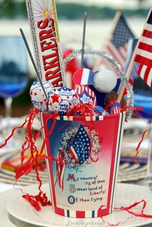 July 4th Candy bucket candy flag patriotic american 4th of july july 4 july 4th fourth of july july 4th fashion food ideas