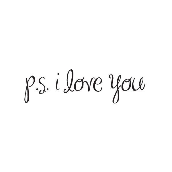 P.S. I love you - www.instawall.nl