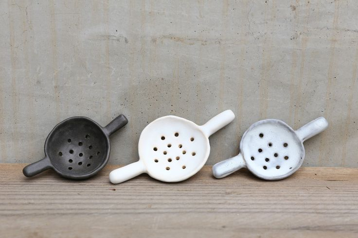 notary ceramics - tea strainers
