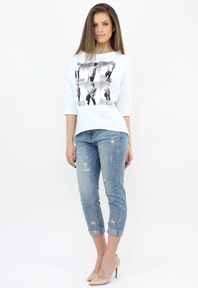 Distressed Blue Jeans- http://famevogue.ro/produse_noi_94/blugi_boyfriend_uzati  #boyfriend #jeans #style #fashion #denim #shopping