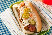 Spicy good ol' boy hot dogs
