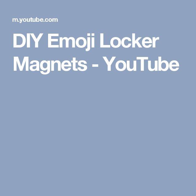 DIY Emoji Locker Magnets - YouTube