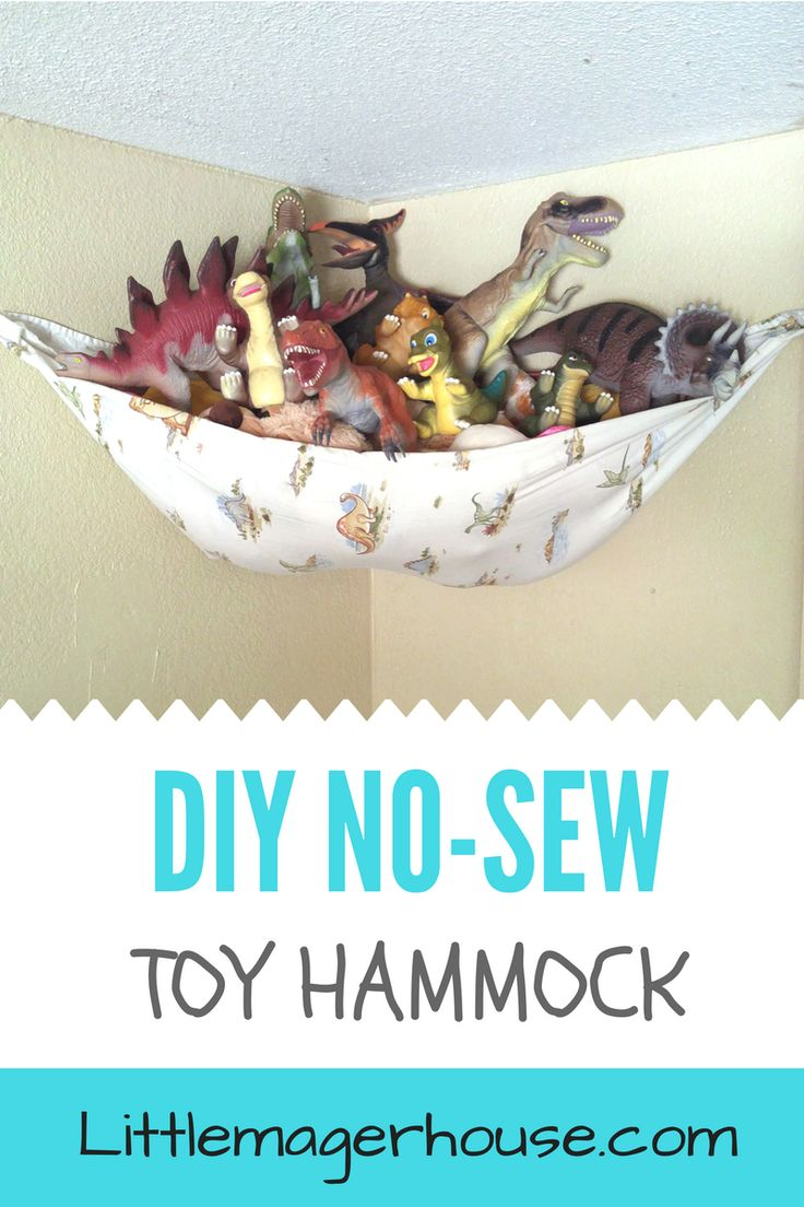 Make a DIY no-sew toy hammock for toys and stuffed animals for your kids' room. Get rid of the clutter. I made one for free using two things I already had!