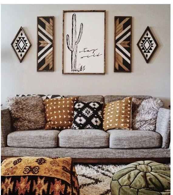 Stay Wild Wood Sign Decor Home Decor Room Decor
