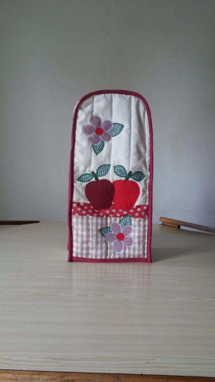 Forro de licuadora con apliques bordados kit de cocina - Apliques para cocina ...