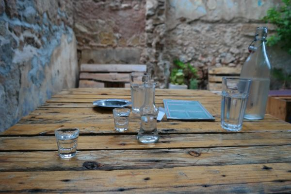 Tsipouro, is like the Cretan tsikoudia! A strong alcohol spirit!