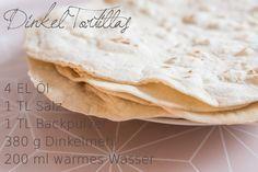 Rezept für Wraps mit selbst gemachten Dinkel Tortillas
