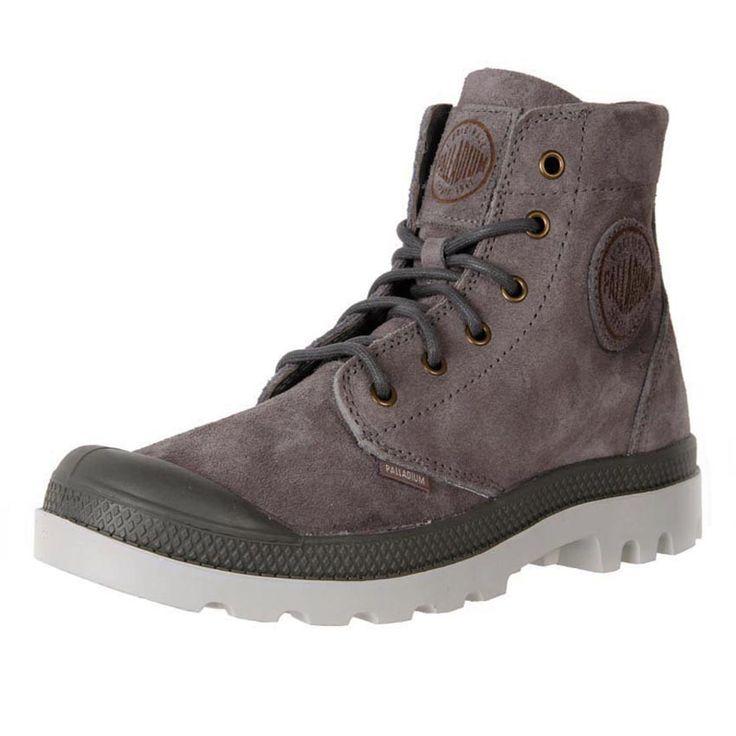 Palladium Men's Leather Suede Pampa Hi Top Boot Metal