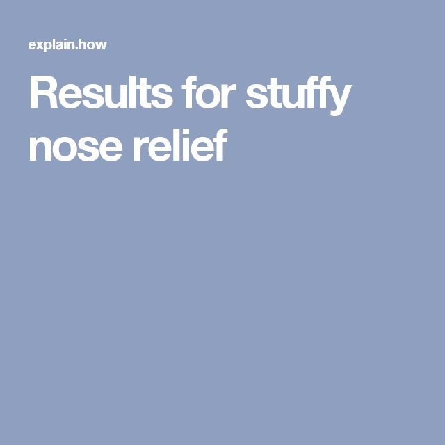 how to get rid of a stuffy nose fast yahoo
