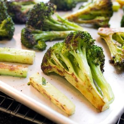 Roasted Broccoli with Optional Garlic  by America's Test Kitchen